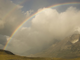 Torres Del Paine with a Rainbows Arching over the Mountains, Chile Photographic Print by Joe McDonald