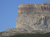 Chief Mountain, a Klippe of the Lewis Thrust Fault, at the USA-Canada Border Photographic Print by Marli Miller