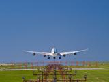 Airbus 340 Landing at Vancouver International Airport, British Columbia, Canada Photographic Print by David Nunuk