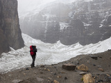 Hiker and Victoria Glacier, Banff National Park, Alberta, Canada Photographic Print by Marli Miller