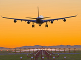 Airbus 340 Landing at Vancouver International Airport, British Columbia, Canada Photographic Print by David Nunuk