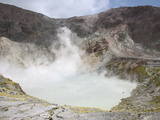 White Island Volcano Steaming Crater Lake, New Zealand Photographic Print by Richard Roscoe