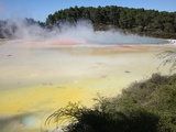 Artist's Palette, Wai-O-Tapu Geothermal Area, Taupo Volcanic Zone, New Zealand Photographic Print by Richard Roscoe