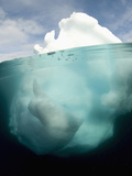 Antarctic Iceberg Showing That the Largest Mass Is Underwater Photographie par Louise Murray