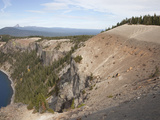 The Caldera Walls of Crater Lake Provide an Inside View of Mt Mazama Photographic Print by Marli Miller