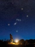 Star Gazers Observing Orion Photographic Print by David Nunuk