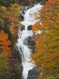 Silver Cascade, White Mountain National Forest in Autumn, Crawford Notch State Park, New Hampshire Photographic Print by Robert Servranckx