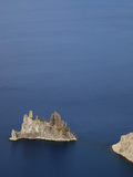 Phantom Ship Is an Outcrop of the Oldest known Rock in the Crater Lake Caldera Photographic Print by Marli Miller