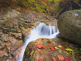 Stream Flowing Along the Trail to Daecheon Peak in the Fall, Seoraksan National Park, South Korea Photographic Print by Geoffrey Schmid