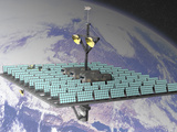 Artist's Concept of an Orbiting Solar Power Station Photographic Print by Carol & Mike Werner