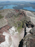 Mount Tarawera Volcano 1886 Eruption Fissure, Aerial View, New Zealand Photographic Print by Richard Roscoe