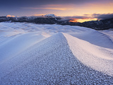 Hoar Frost on the High Dunes at Dawn, Great Sand Dunes National Park, Colorado, USA Photographic Print by Geoffrey Schmid