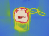 Thermogram - Space Heater Photographic Print by Chuck Swartzell