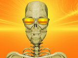 Illustration of Skeleton Enjoying the Sunset Photographic Print by Carol & Mike Werner