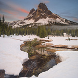 Spring Snow Melt and Liberty Bell Spire, North Cascades National Park, Washington, USA Photographic Print by Geoffrey Schmid