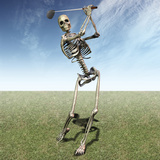 Skeleton Golfing Photographic Print by Carol & Mike Werner