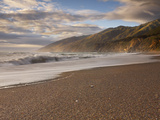 Waves on a Sandy Big Sur Beach, California, USA Photographic Print by Patrick Smith
