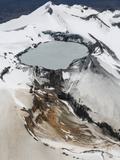 Ruapehu Volcano Crater Lake in the Summit Region, New Zealand Photographic Print by Richard Roscoe