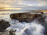 Wave Erosion of Rocky Outcrops Near Santa Cruz, California, USA Photographic Print by Patrick Smith