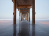 Sunrise View under the Scripps Pier, La Jolla, California, USA Photographic Print by Patrick Smith