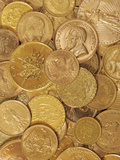 Gold Coins Photographic Print by Dave Watts