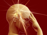 Woman Suffering from a Headache Photographic Print by Carol & Mike Werner