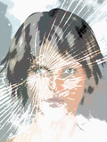 Illustration of a Human Face in a Cracked Mirror Photographic Print by Carol & Mike Werner