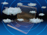 Cloud Computing Illustration Photographic Print by Carol &amp; Mike Werner