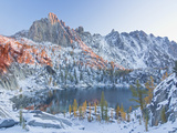 Early Winter Arrives at Lake Viviane in the Lower Enchantment Lakes Basin Photographic Print by Geoffrey Schmid