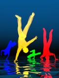 Breakdancer Fotodruck von Carol & Mike Werner