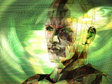 Concept of Man in Cyberspace Photographic Print by Carol & Mike Werner
