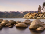 Granite Rocks, Sand Harbor State Park, Lake Tahoe, Nevada, USA Photographic Print by Patrick Smith
