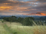 Sunset Spotlighting Mt. Diablo Taken From The Hills Above Walnut Creek And Pleasant Hill Photographic Print by Patrick Smith