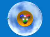 Hydrogen Atom Model Photographic Print by Carol & Mike Werner