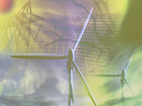 Illustration of Alternative Energy Sources Photographic Print by Carol & Mike Werner