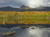 Forest and Lake in the Fall, Baxter State Park, Maine, USA Photographic Print by Gustav Verderber