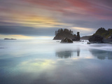 Sunset View of the Sandy and Rocky Coast Near Trinidad, Northern California, USA Photographic Print by Patrick Smith