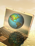 Global Digital Communication Photographic Print by Carol & Mike Werner