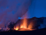 New Erupting Crack in the Volcano, Fimmvë†RUhâ·Ls, Iceland Photographic Print by Skarphedinn Thrainsson