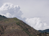 Thunderstorms Develop over a Burned Mountainside, Increasing the Risk of Slope Failures Photographic Print by Jon Van de Grift