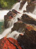 Red Rock Falls, Glacier National Park, Montana, USA Photographic Print by Geoffrey Schmid