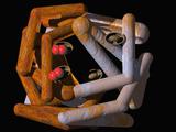 Molecular Model of Hemoglobin Photographic Print by Carol & Mike Werner