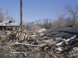 Homes Destroyed by Hurricane Katrina in Waveland, Mississippi, USA Photographic Print by Jon Van de Grift
