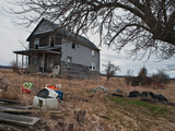 Abandoned Farm House and Trash, Michigan, USA Photographic Print by Jeffrey Wickett
