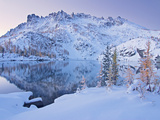 Early Winter Comes to Leprechaun Lake in the Enchantment Lakes Basin Photographic Print by Geoffrey Schmid