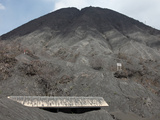 Building Buried in Volcanic Ash from the Eruption of Bromo Volcano, Tengger Caldera Photographic Print by Richard Roscoe