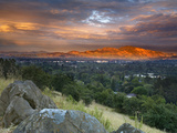 After a Storm Rolled Though the Valley, an Opening in the Clouds Allowed Mt Diablo Photographic Print by Patrick Smith