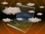 Cloud Computing Illustration Photographic Print by Carol & Mike Werner