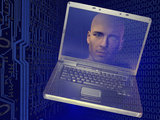 Man in Cyberspace Photographic Print by Carol & Mike Werner