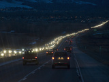 Traffic Congestion at Rush Hour Along the Colorado Front Range Contributes to Climate Change Fotografie-Druck von Jon Van de Grift